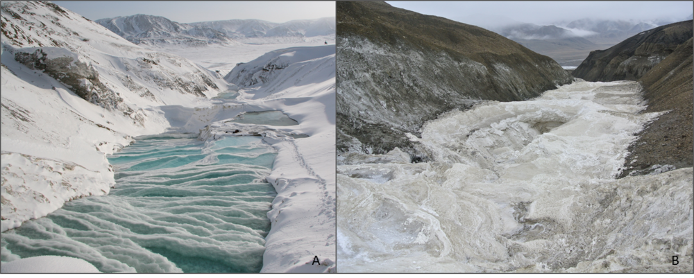 Seasonal differences between one of my field sites on Axel Heiberg Island, Nunavut