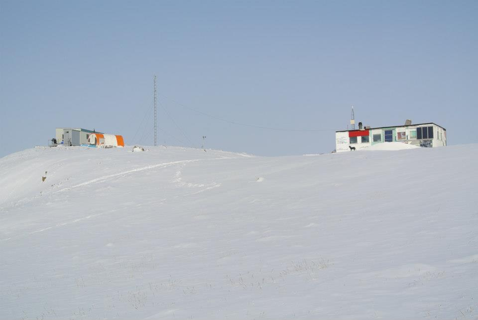 The McGill Arctic Research Station sleeping cabin and new kitchen.