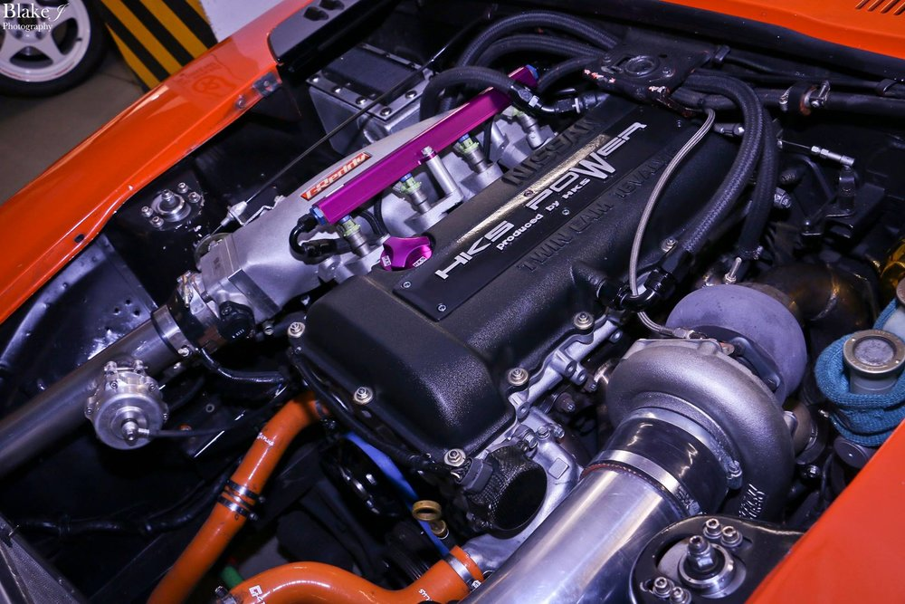 Datsun 260Z SR20DET Engine bay by Speedtech