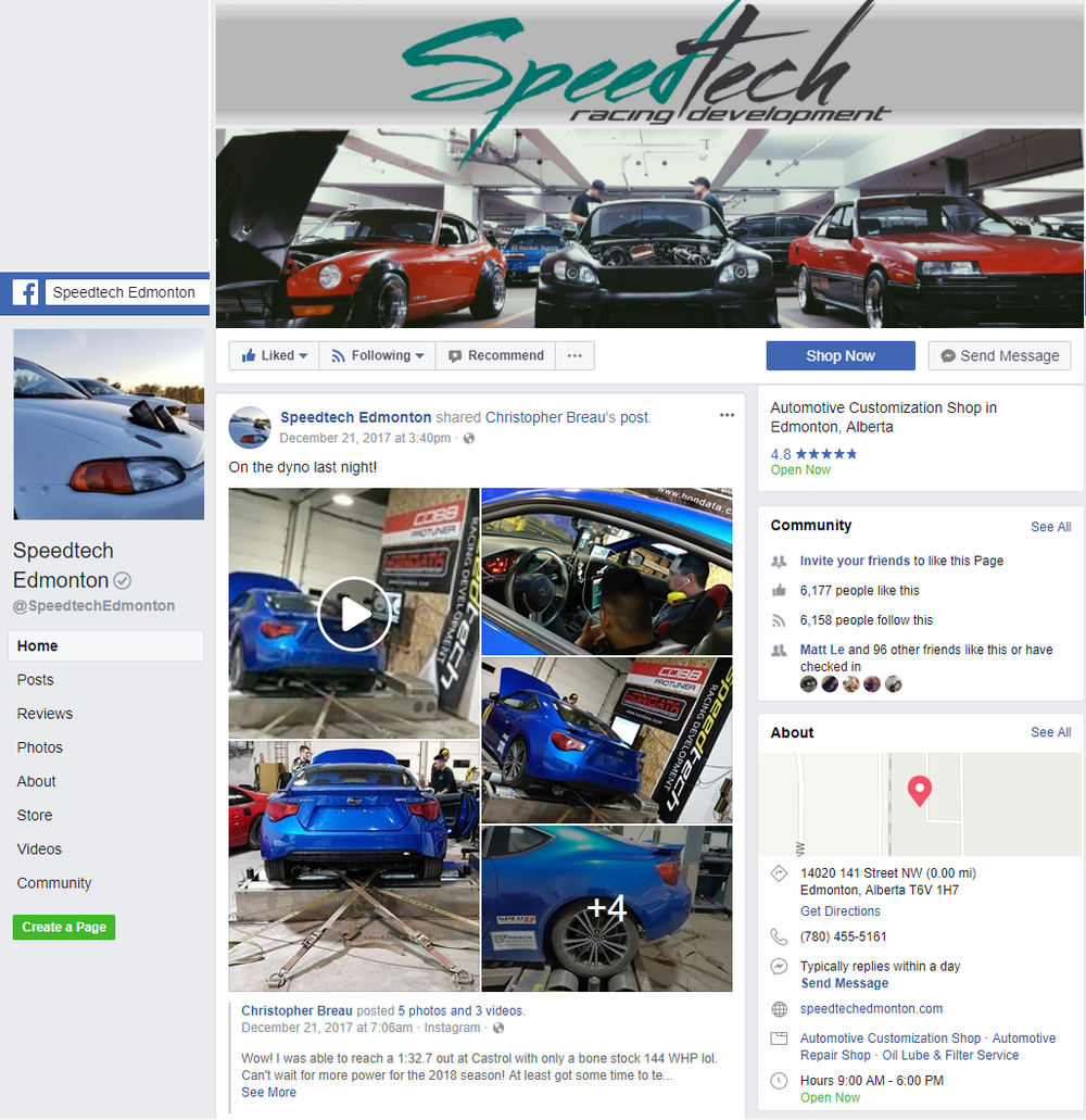speedtech facebook page