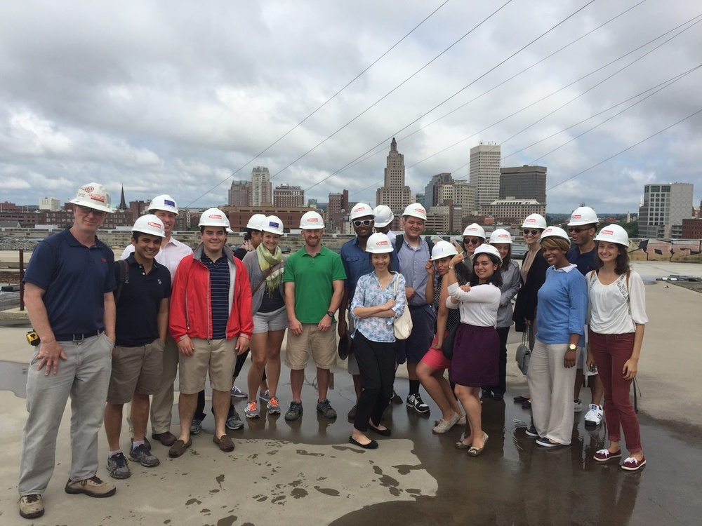 2015 Interns on the rooftop of CV's development site in Providence.