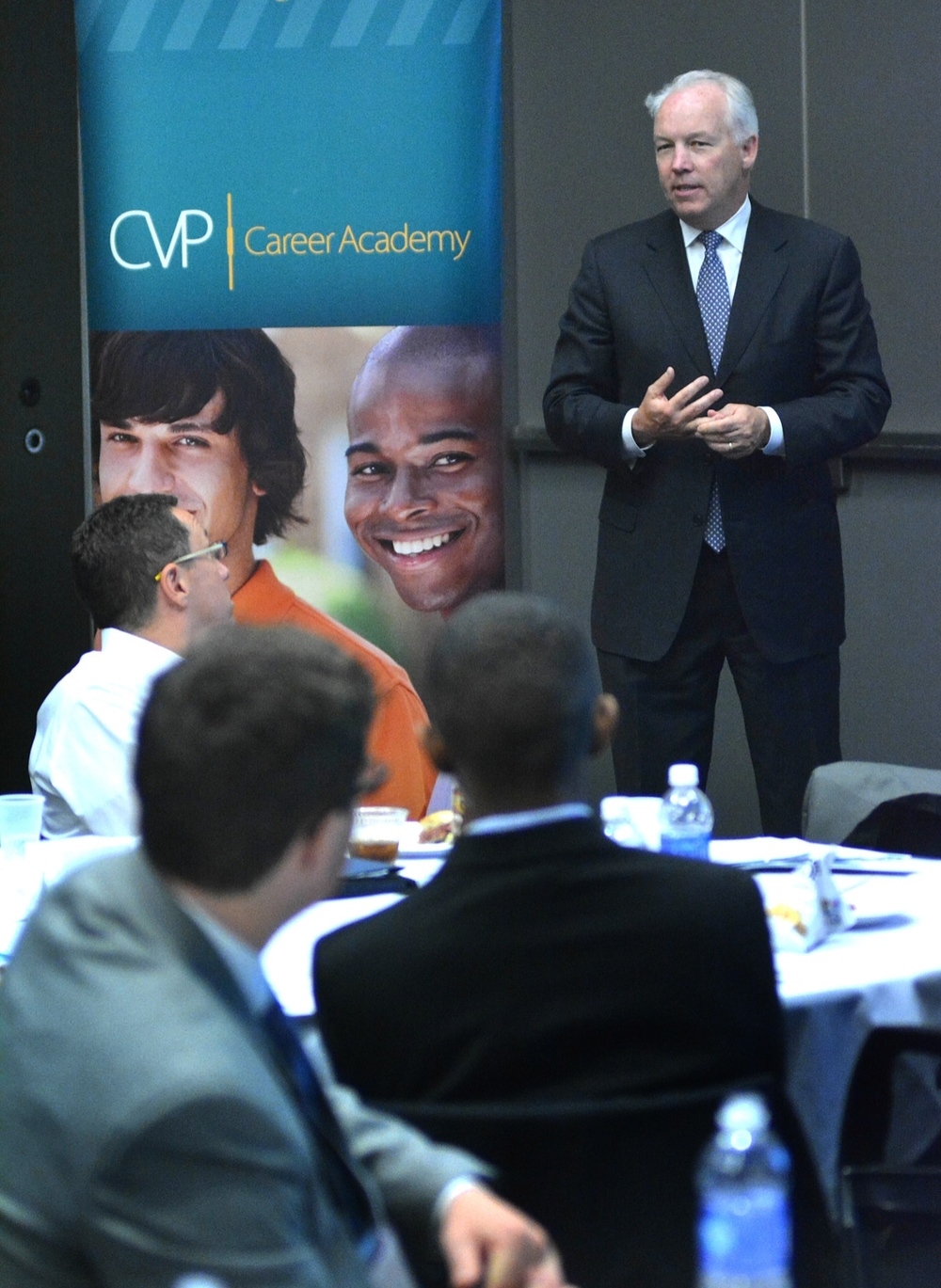 Dick Galvin, President & CEO of CV Properties, welcomes the 2015 CVP Career Academy Class.