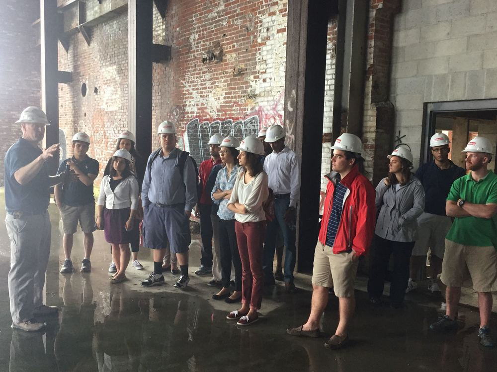 2015 CVP Interns tour development site in Providence, RI.