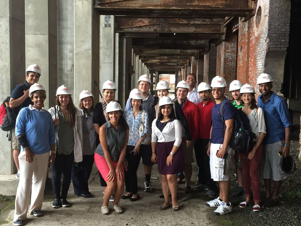 The interns visit CV's development site in Providence, RI.