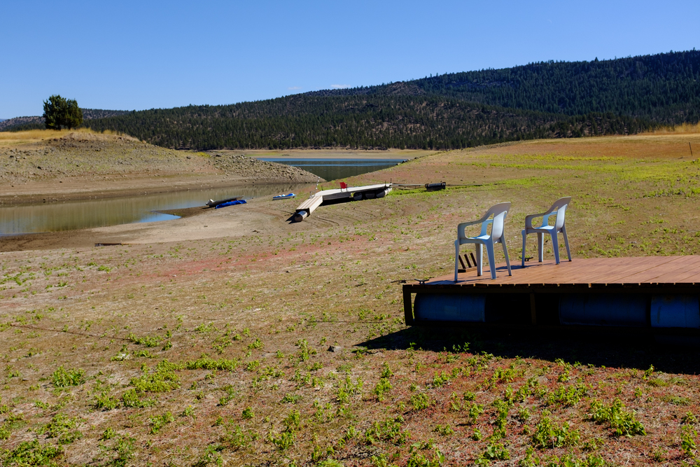 Late summer drought on Ochoco Lake