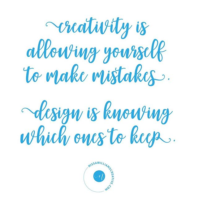 Creativity is a messy process full of making mistakes. This is something that I need to continuously remind myself even after all these years of working in a creative industry. 🤦😜 You can't force it and you do have to get out the bad stuff to get to the good stuff. The good stuff, the really good, magical, aha moment stuff is not completely elusive if you put forth a consistent effort. But it isn't easy. It is the constant showing up and trying that counts. Every. Single. Day. ✨🎉❤