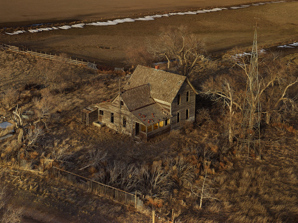 Image © Andrew Moore. The Yellow Porch, Sheridan County, Nebraska 2013