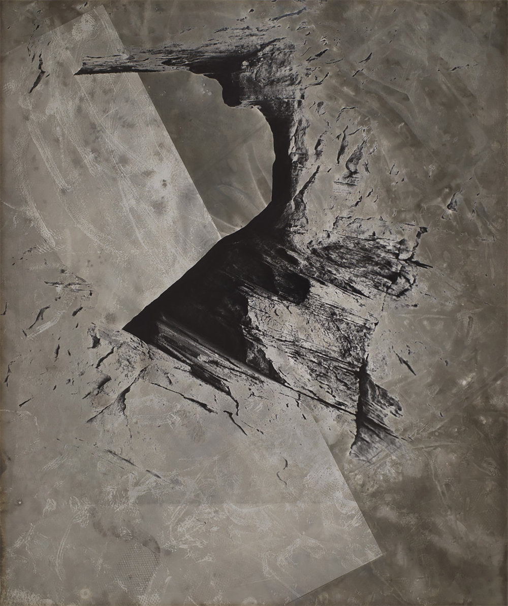 """Image © Rachelle Bussières.  Untitled , Arches, From the series """"Strata"""", 2015, 20x24inches, gelatin silver print (fragment, click to view full image)."""