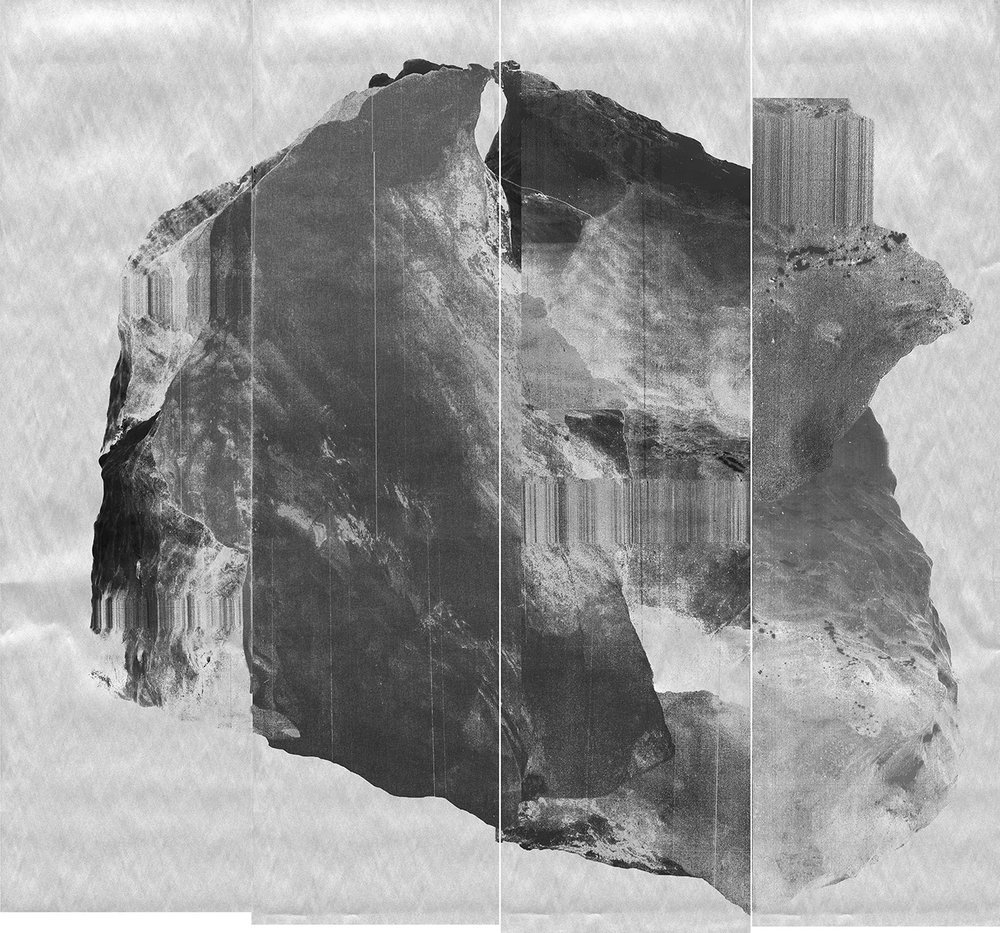 Image © Lucy Helton. Glacier, Comet, Silver. Fax Paper (2018). Courtesy of the artist.