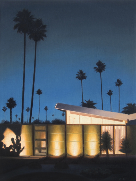 Twin Palms At Night