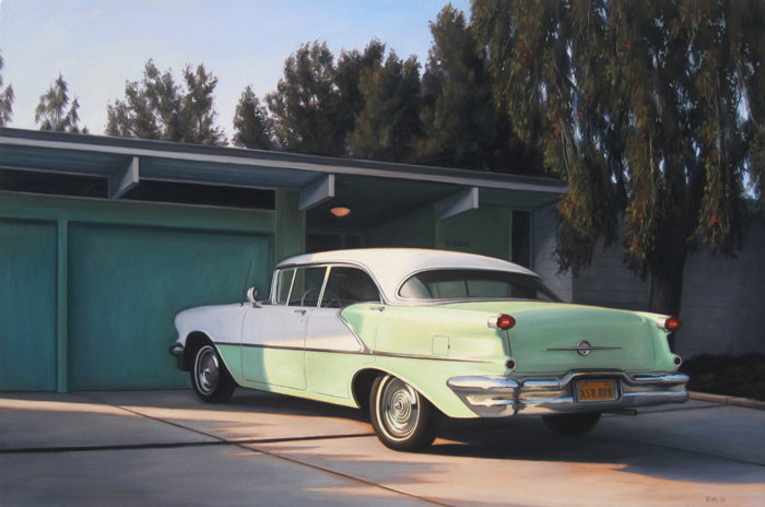 Oldsmobile In Driveway