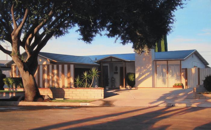 Cul-de-sac House At Sunset