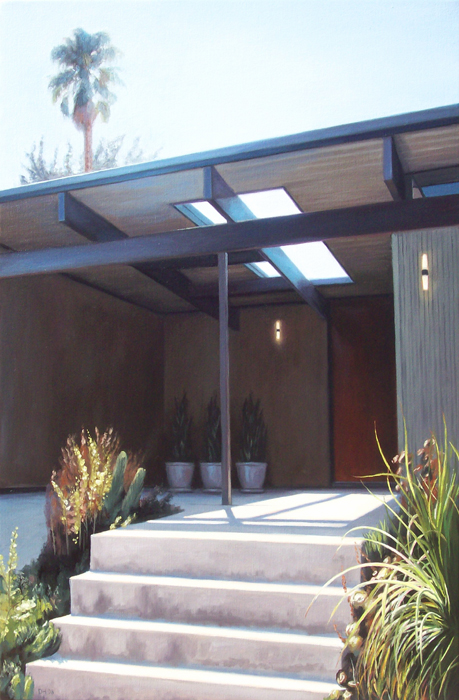Eichler Entryway With Palm