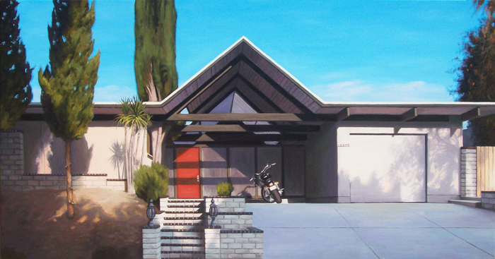 Eichler House With Motorcycle