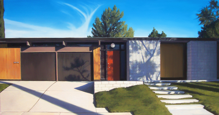 Eichler House With Red Door