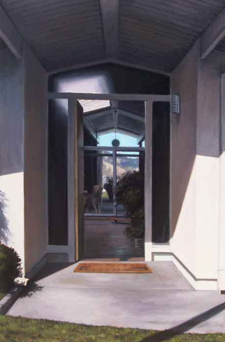 Eichler Open Door WIth Dog