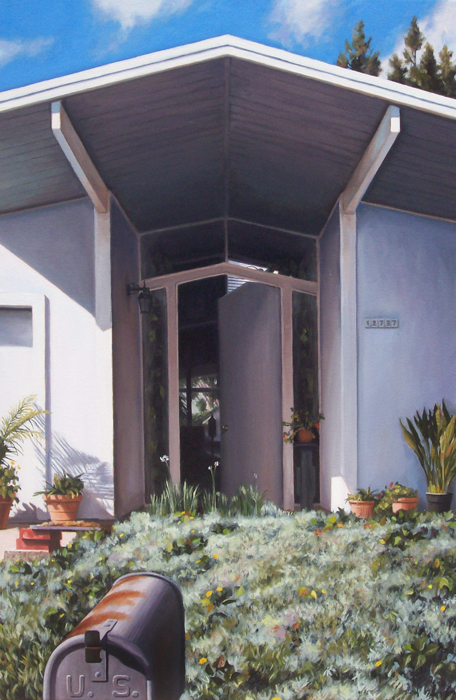 Eichler Open Door With Mailbox