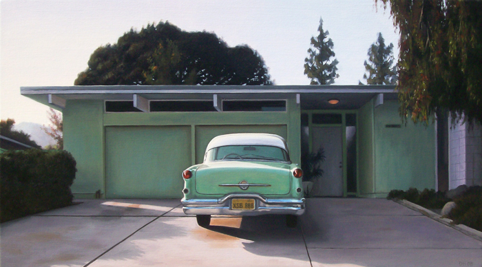 Eichler With Green Oldsmobile