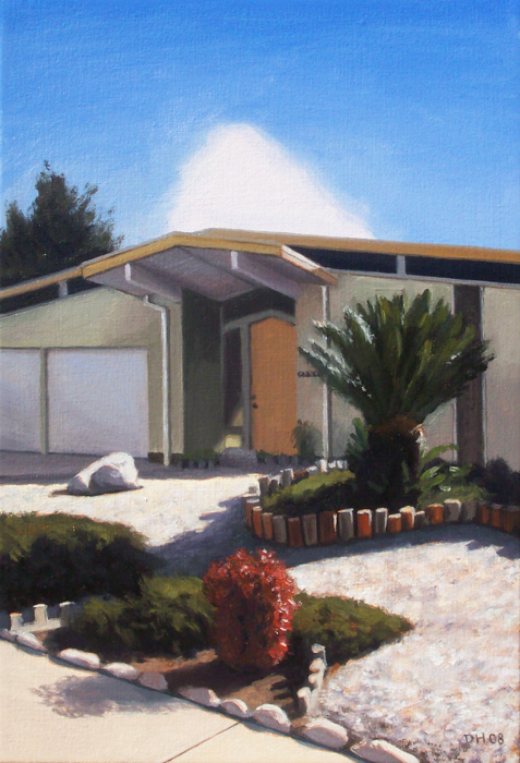 Eichler With Red Bush