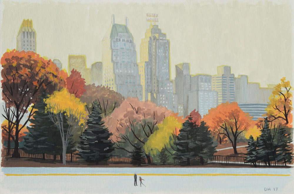 Central Park Rink Study 1