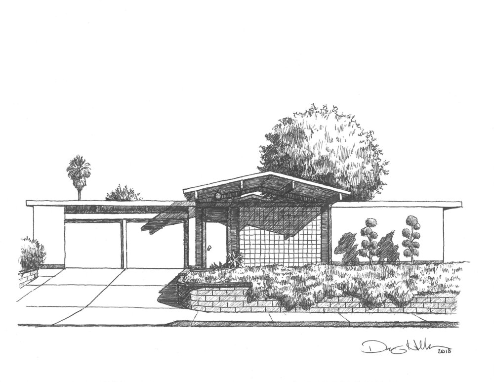 Eichler With Tree Drawing