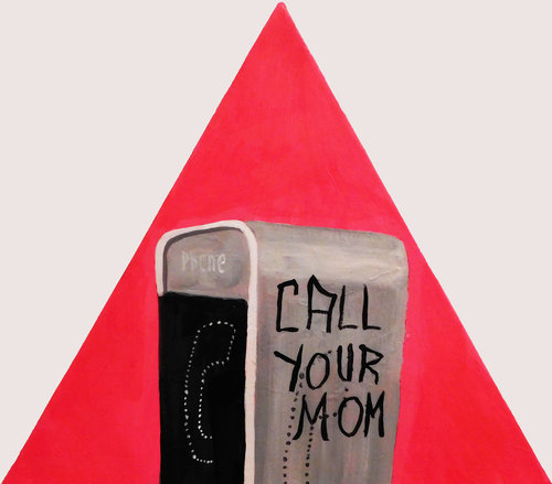 Brian Leo_Call Your Mom_16inx16in_acrylic on canvas_2017 _$1200.jpg