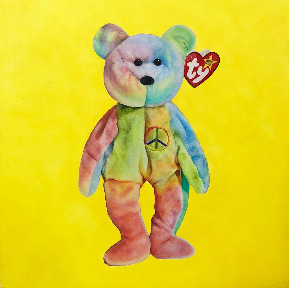 HaleyGewandter_MILLENNIAL ICONS - Peace Bear_2017_Oil on Wood Panel_5inchesx5inches_1850.jpg