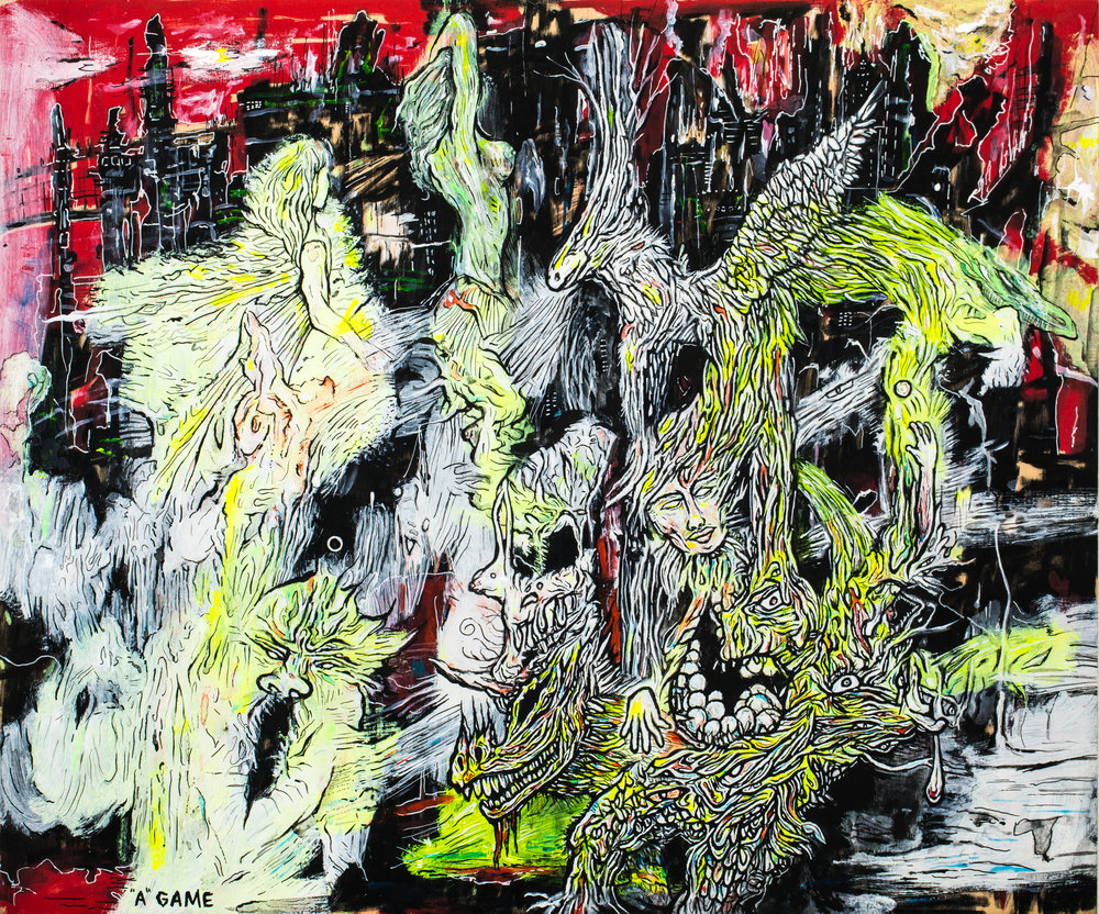 Legend DOro_A Game_24x30_acrylic and ink on wood panel_2016_750.jpg