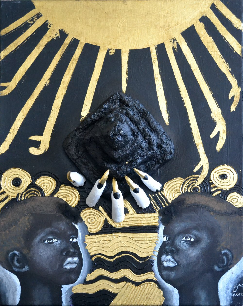 Nneka Osueke_Out of Body Experience_2017_40x60__Acrylic24kGold_2100.JPG