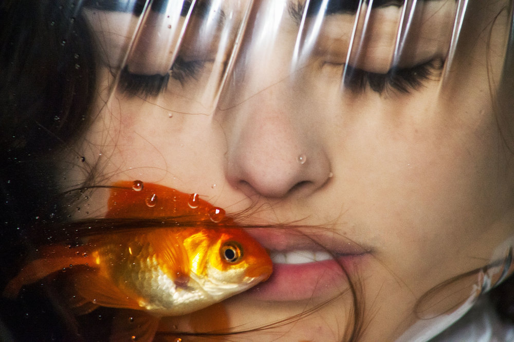 """(2) Ashley G Garner - """"Lucy and the Fish_ - 16x24 - Aluminum print on floating mount- Edition 1 of 5 - 2017- $1200.jpg"""