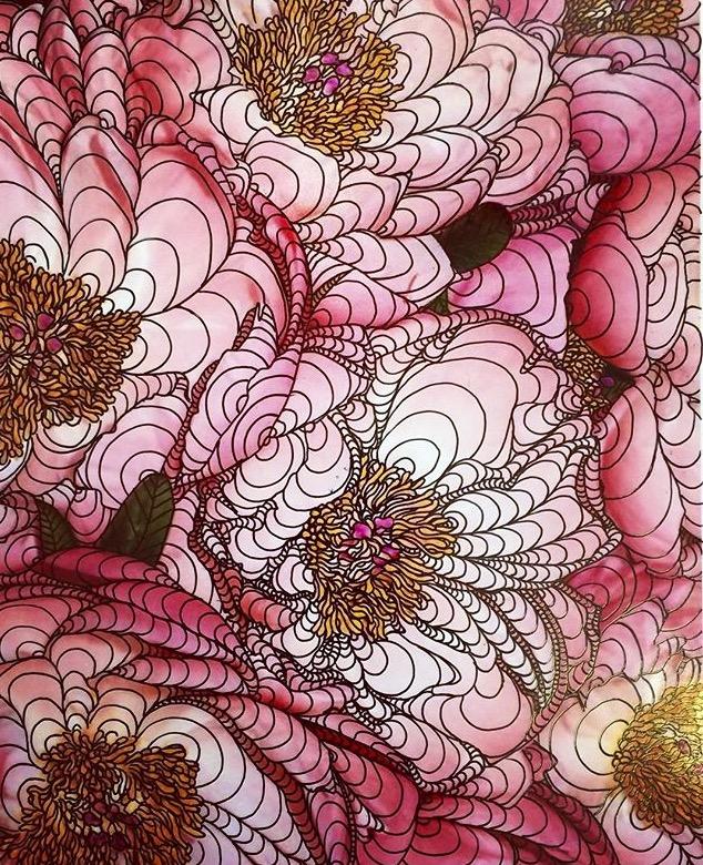 ApostropheNYC_Alana Dee Haynes__Pink Flowers__5_x7__Giclee Print, Ink_2015_$700.jpg