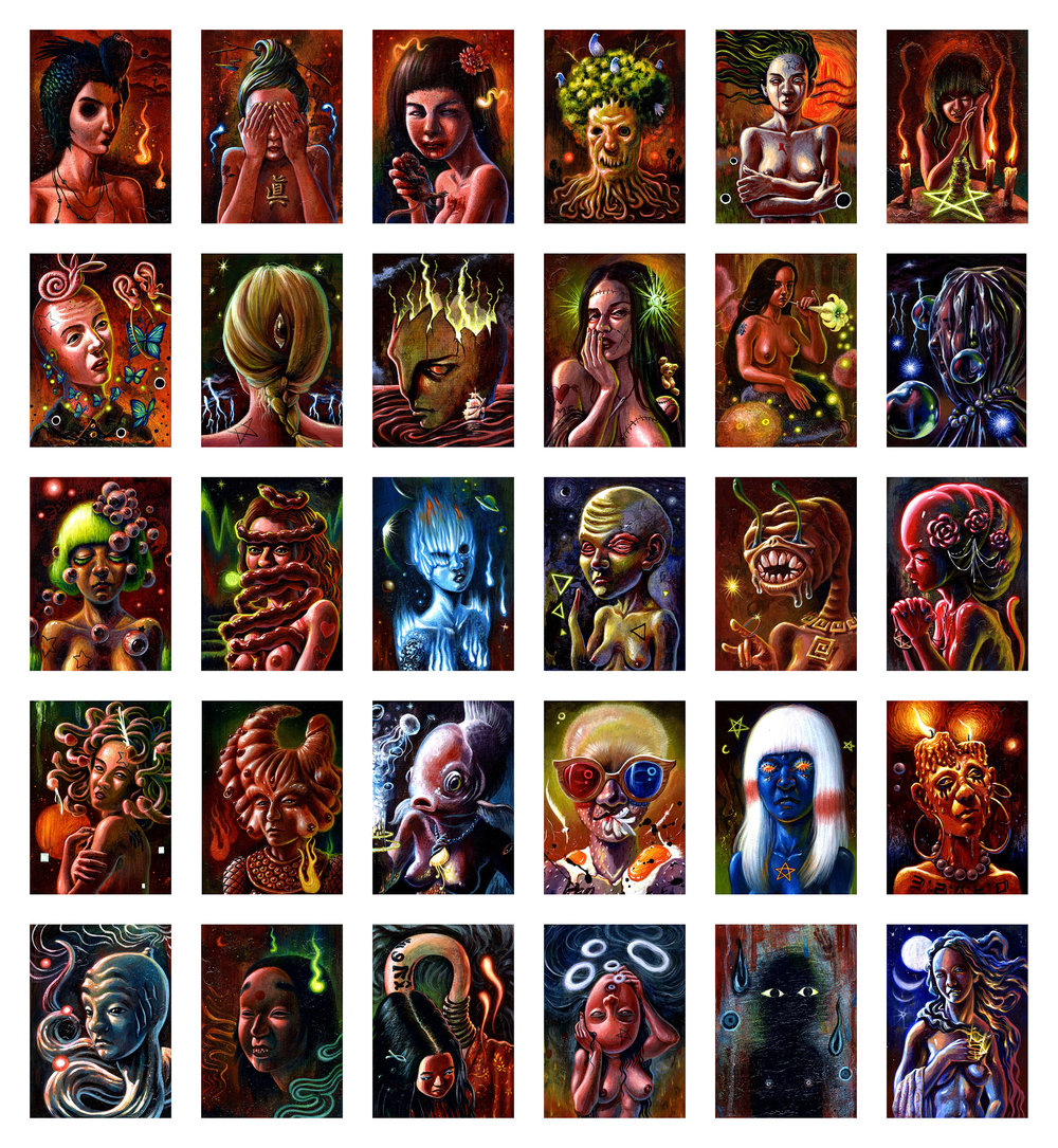(6)The World of Freaks by Crescent Seo-0.41ftx0.58ft.jpg