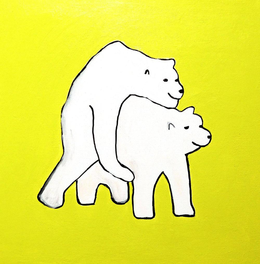 Brian Leo_ Polar Bears_12 inx12in_acrylic on canvas_2017_$500.jpg