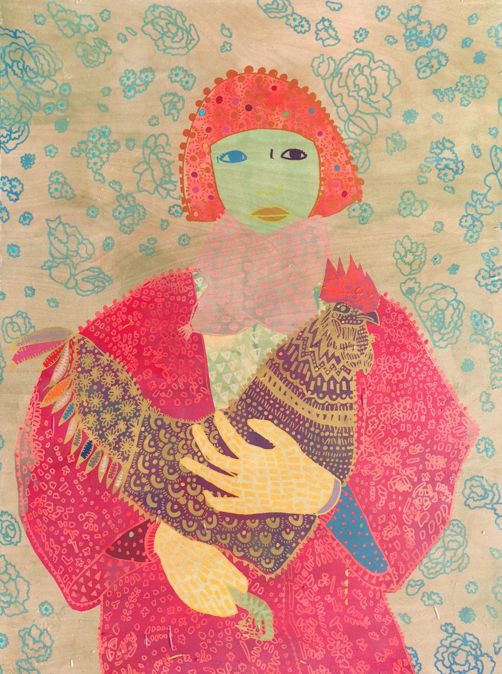 Emma Repp__I Named Her Celery__18 x 24_ Chiffon, Birch, Acrylic_ $470.jpg