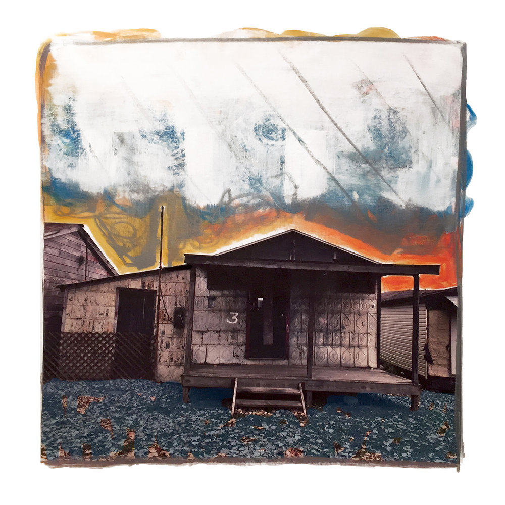 7 Gail Garcia - _NUMBER 3_ - 2018 - Mixed Media on Canvas - 30_x30_ - Framed Original - $1800.jpg