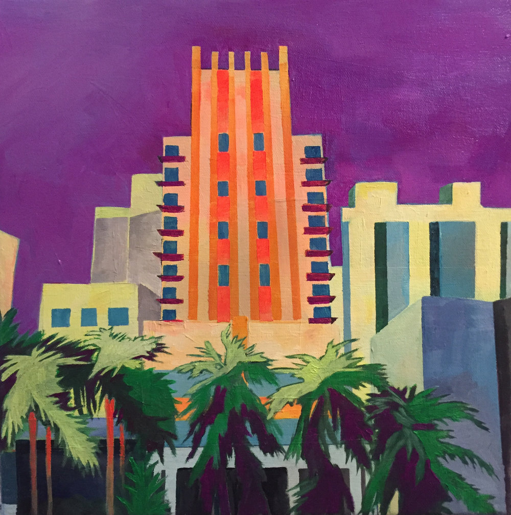 5 Julie Gross_Miami Hotel_11x11_oil on canvas_2018_$400.jpg