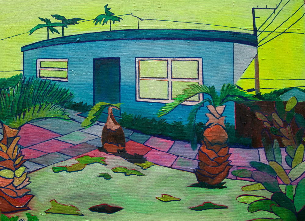 3 Julie Gross_Miami Blue House _11x14_Oil on Canvas_2017_$450.jpg