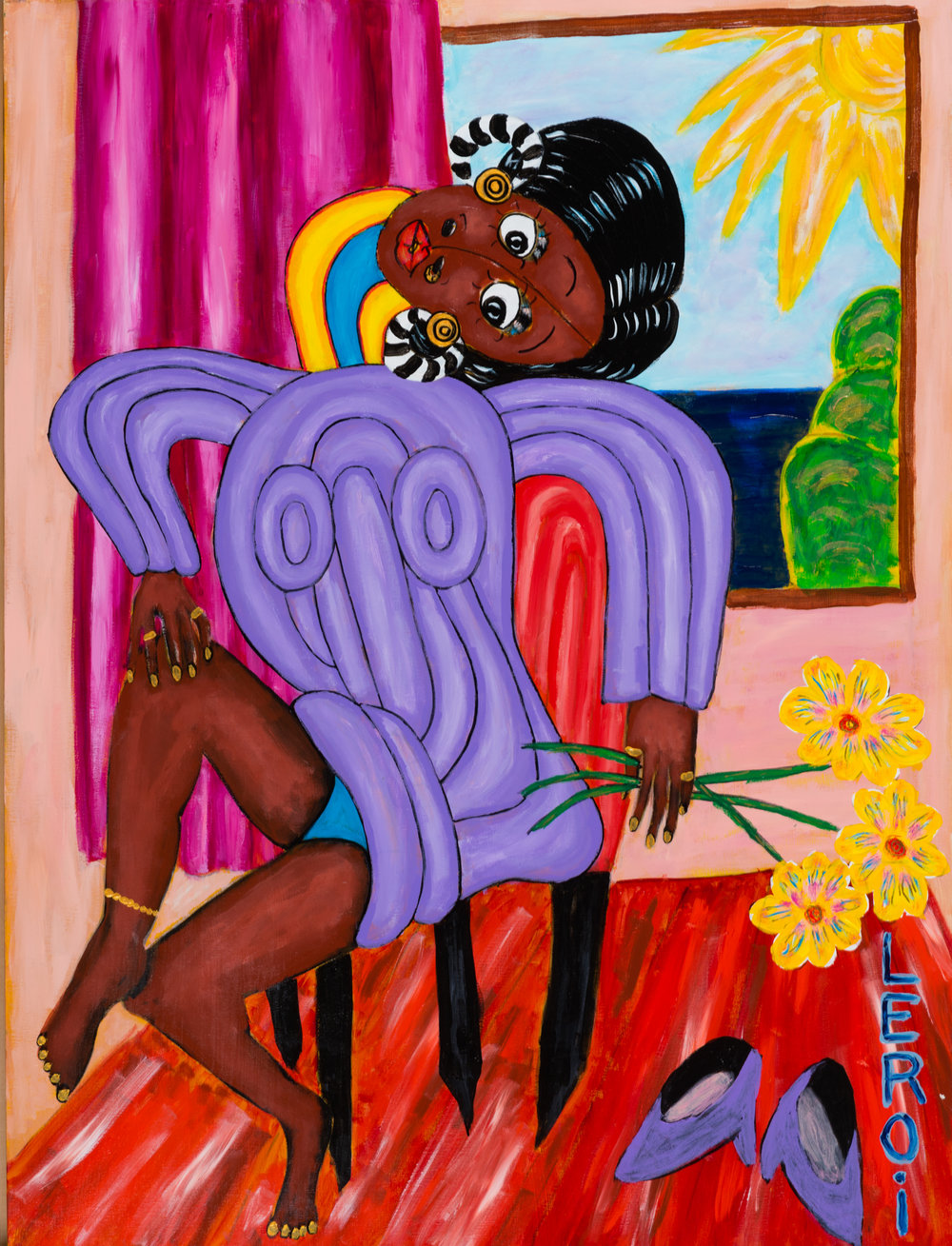 _2_LEROI_All Dressed Up and Nowhere to Go_2007_Oil and acrylic on canvas_40x30 inches_$4,500.jpg