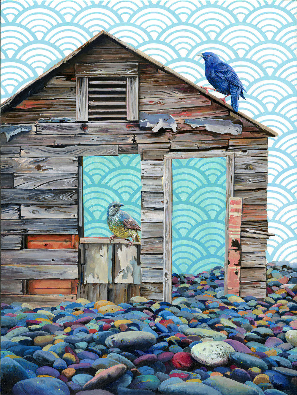 5 Gigi Chen-_A House Can Be A Home_-18x24 inches-acrylic on wood-2017-$1100.jpg