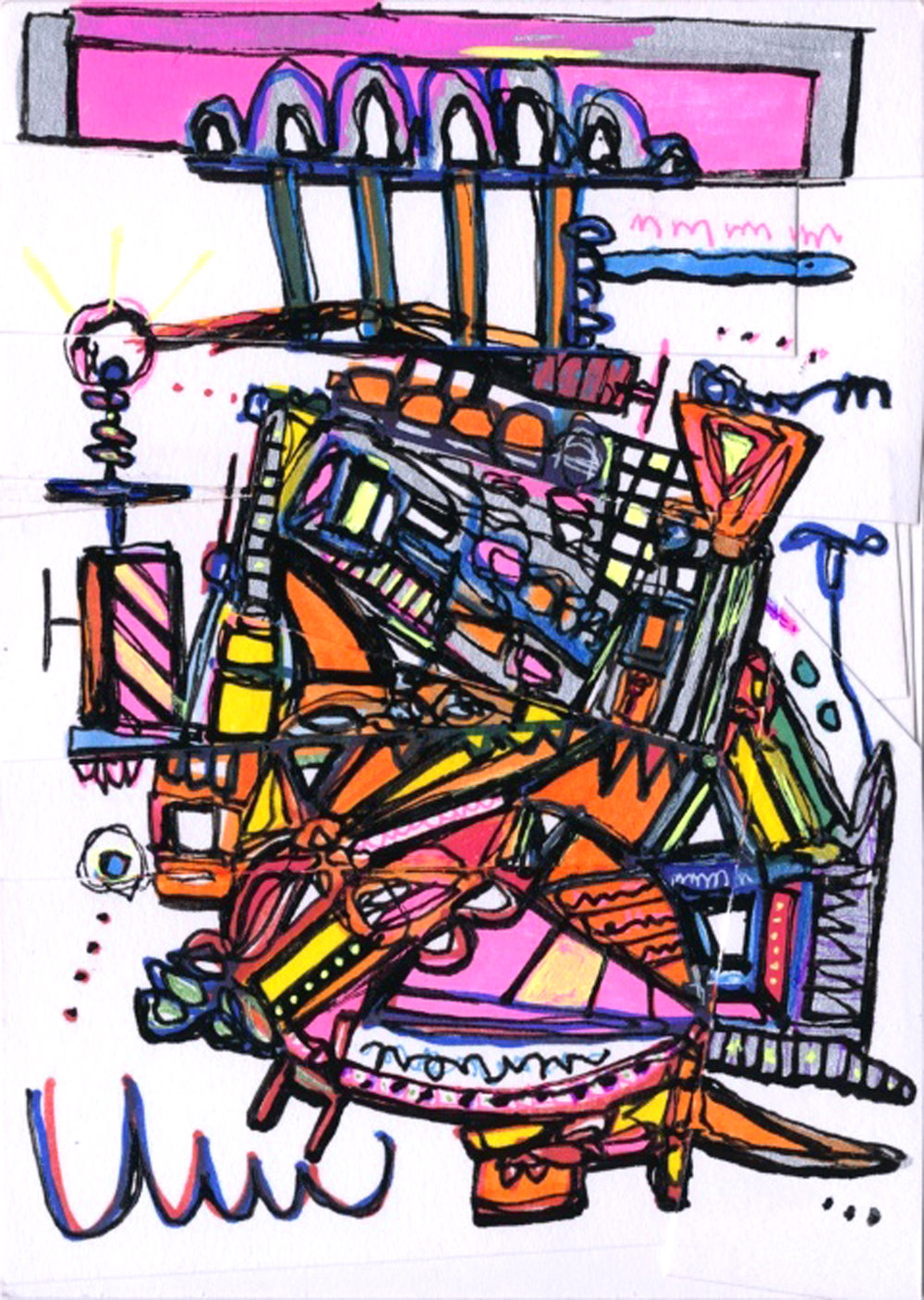Joseph Meloy_Airship_5 in x 7 in_mixed media on paper_2013_300.jpg
