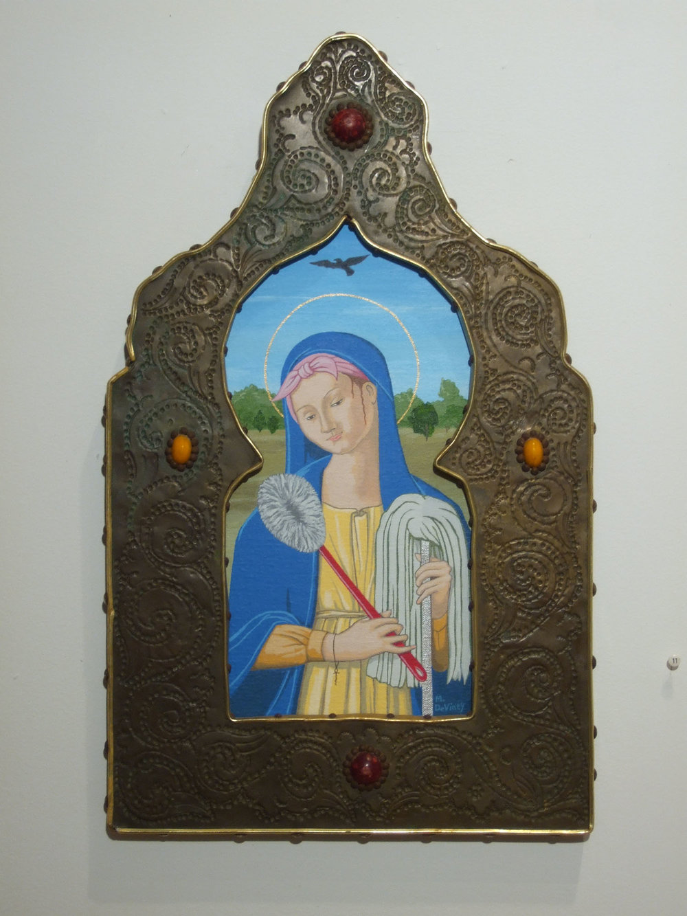 May DeViney_Madonna of Eternal Drudgery_2012_Acrylic_20x12_950.JPG