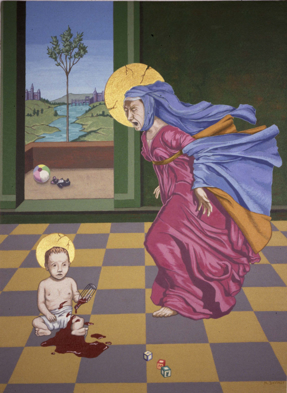 May DeViney_Our Lady of Perpetual Aggravation_2008_Acrylic_21x17x2_1600.jpg