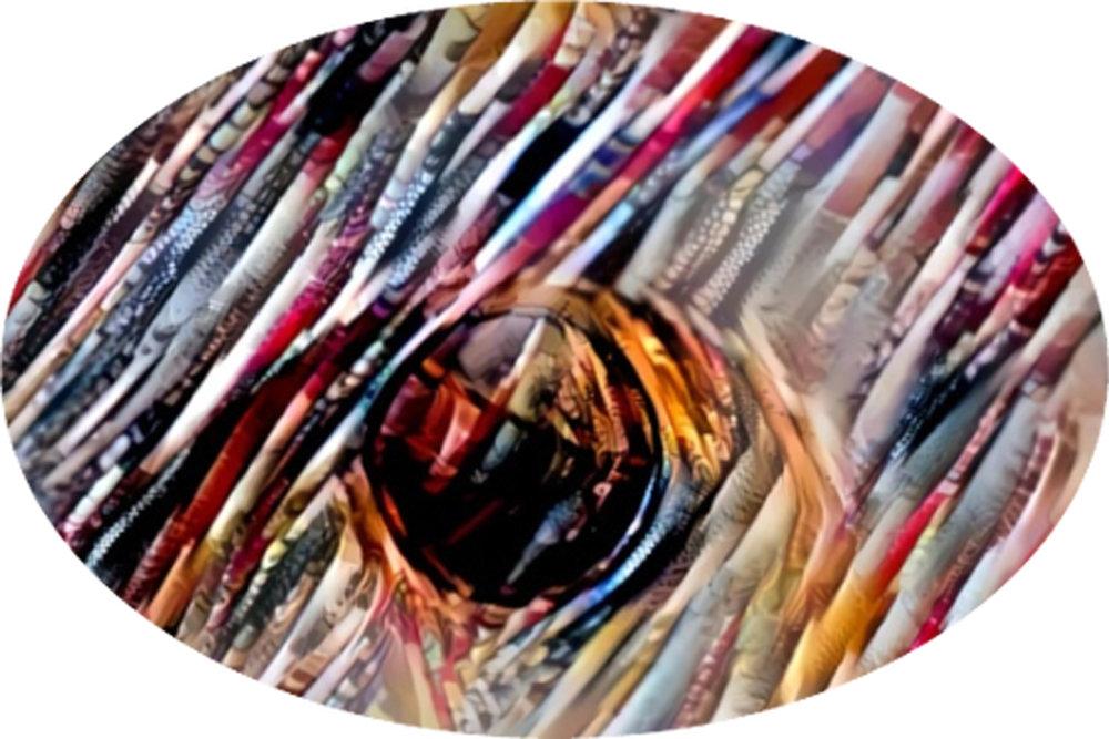 Srividya KannanRamachandran_Draped In an AI_s Consciousness_2018_MetalPrint_16x24Oval_$300.jpg