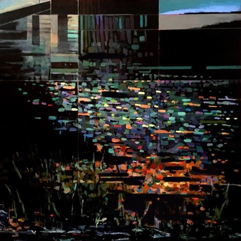 Ceres-E.M.Castonguay-_Below the Horizon (Endangered body of work)_-48_x48_x2_-Acrylic _ German glass glitter-2018-$3800.jpeg