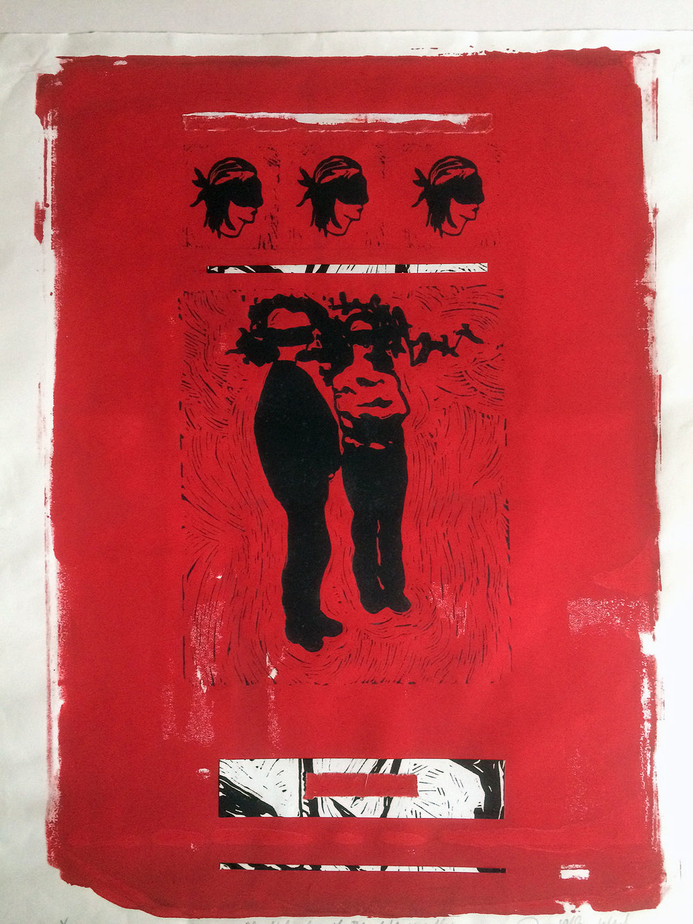 Ceres-Joyce Ellen Weinstein-Black figure on Red-32_ x 26_-silk screen lino print-unique-2015-$525..jpg