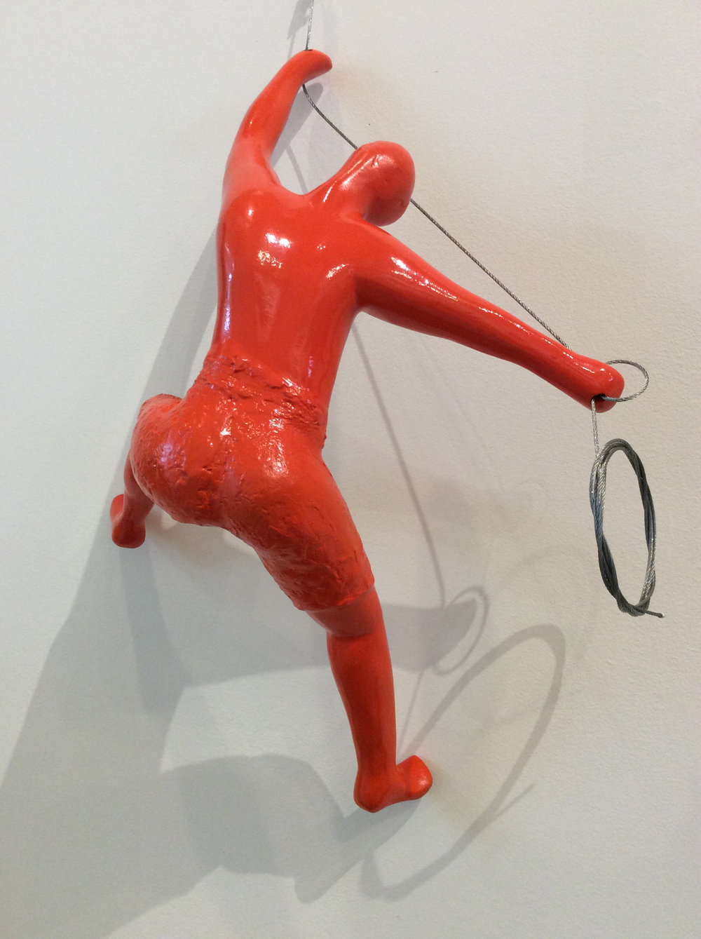D-Gallerie_ Carlos Peraza _ Climber 01 (Orange)_ 14¾_ x 10¾_ x 6¾__Resin_ 2018_$195.jpg