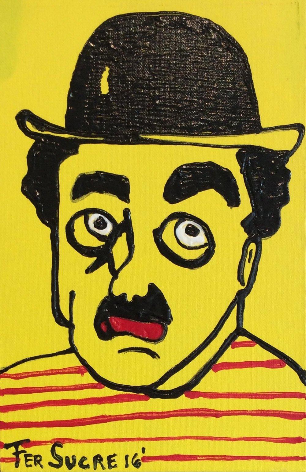 D-Gallerie_Fer Sucre_ Charlie Chaplin_8_x12__Acrylic _ Plastic on Canvas_2016_$350.jpg