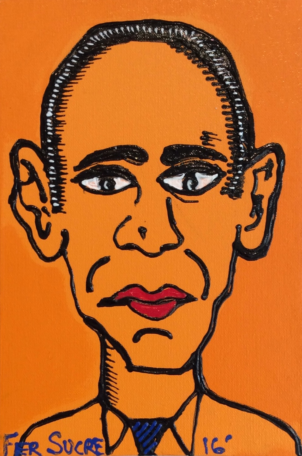 D-Gallerie_Fer Sucre_ Obama_8_x12__Acrylic _ Plastic on Canvas_2016_$350.jpg