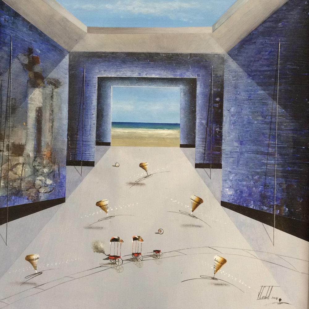 D-Gallerie_Jose Cordova _  Bello Dia de Playa_ 20_x20__Acrylic on Canvas_ 2018_$550.jpg