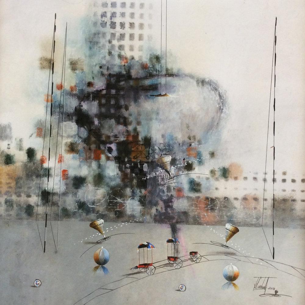 D-Gallerie_Jose Cordova _  El Brillante Luminoso_ 20_x20__Acrylic on Canvas_ 2018_$550.jpg
